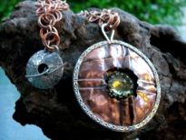 VLP,Entry #1,Cracked Open Necklace,Copper Silver Lemon Qtz,20in,$285